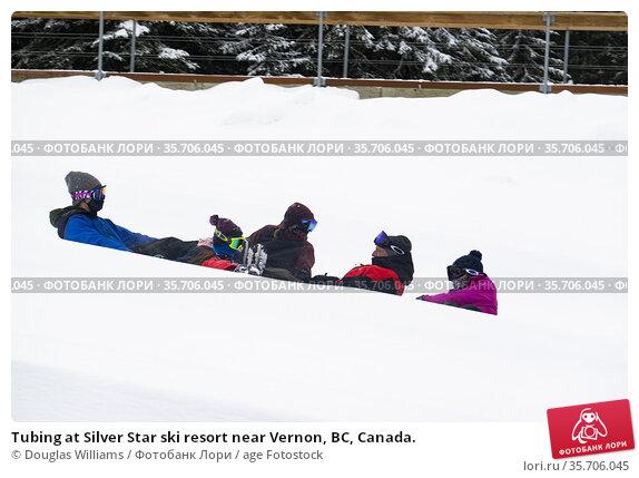 Tubing at Silver Star ski resort near Vernon, BC, Canada. Редакционное фото, фотограф Douglas Williams / age Fotostock / Фотобанк Лори