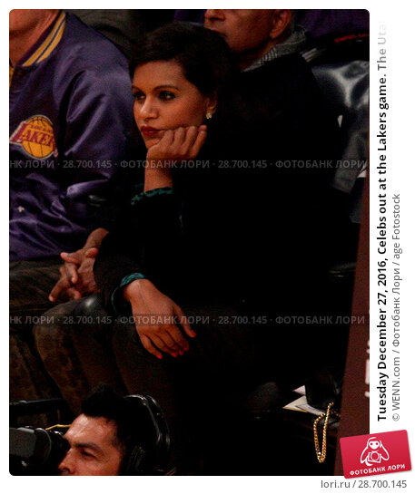 Купить «Tuesday December 27, 2016, Celebs out at the Lakers game. The Utah Jazz defeated the Los Angeles Lakers by the final score of 102-100 at Staples Center...», фото № 28700145, снято 27 декабря 2016 г. (c) age Fotostock / Фотобанк Лори