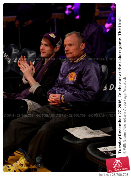 Купить «Tuesday December 27, 2016, Celebs out at the Lakers game. The Utah Jazz defeated the Los Angeles Lakers by the final score of 102-100 at Staples Center...», фото № 28700705, снято 27 декабря 2016 г. (c) age Fotostock / Фотобанк Лори