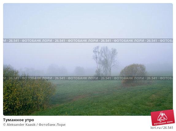 Купить «Туманное утро», фото № 26541, снято 20 апреля 2018 г. (c) Aleksander Kaasik / Фотобанк Лори