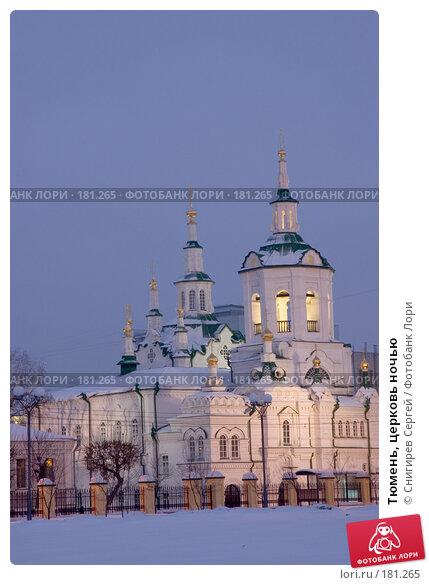 Тюмень, церковь ночью, фото № 181265, снято 20 января 2008 г. (c) Снигирев Сергей / Фотобанк Лори