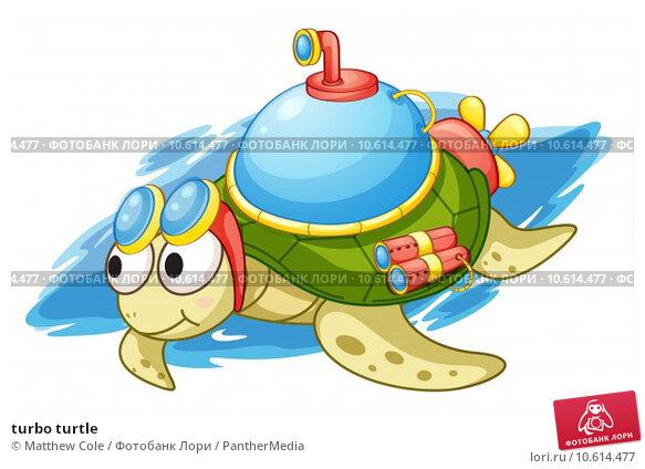 turbo turtle. Стоковая иллюстрация, иллюстратор Matthew Cole / PantherMedia / Фотобанк Лори