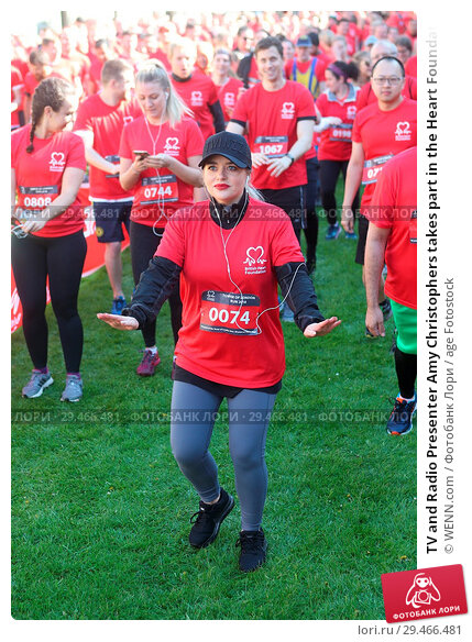 Купить «TV and Radio Presenter Amy Christophers takes part in the Heart Foundation Run at the Tower of London. This is the 40th anniversary of the run. She was...», фото № 29466481, снято 2 мая 2018 г. (c) age Fotostock / Фотобанк Лори