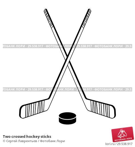 Купить «Two crossed hockey sticks», иллюстрация № 29538917 (c) Сергей Лаврентьев / Фотобанк Лори