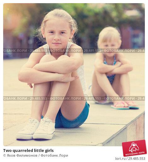 Купить «Two quarreled little girls», фото № 29485553, снято 20 июля 2017 г. (c) Яков Филимонов / Фотобанк Лори