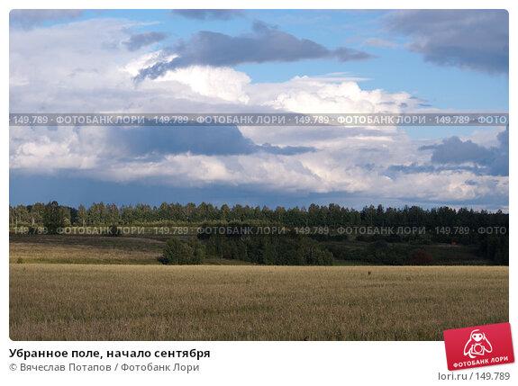 Убранное поле, начало сентября, фото № 149789, снято 7 сентября 2006 г. (c) Вячеслав Потапов / Фотобанк Лори