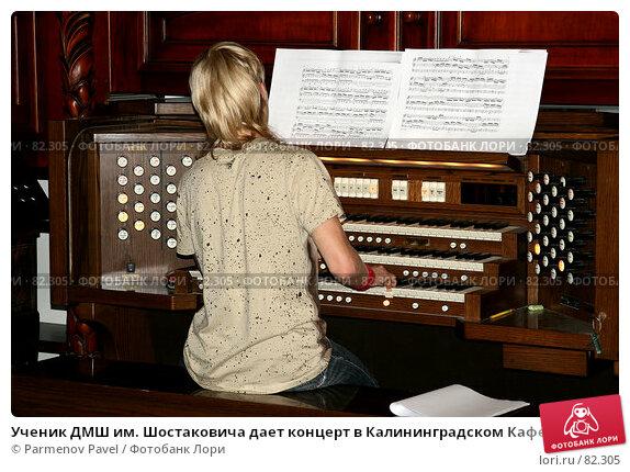 Ученик ДМШ им. Шостаковича дает концерт в Калининградском Кафедральном соборе, на синтезаторе Viscount Prestige 100, фото № 82305, снято 3 сентября 2007 г. (c) Parmenov Pavel / Фотобанк Лори