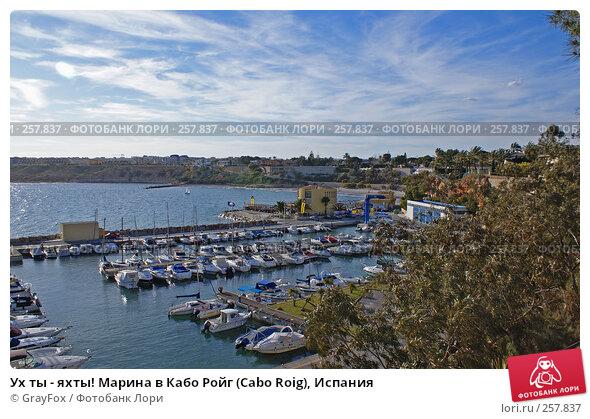 Купить «Ух ты - яхты! Марина в Кабо Ройг (Cabo Roig), Испания», фото № 257837, снято 24 апреля 2018 г. (c) GrayFox / Фотобанк Лори