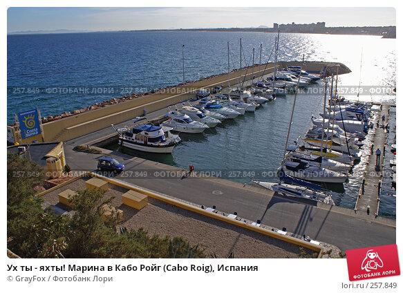 Ух ты - яхты! Марина в Кабо Ройг (Cabo Roig), Испания, фото № 257849, снято 16 августа 2017 г. (c) GrayFox / Фотобанк Лори