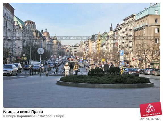 Купить «Улицы и виды Праги», фото № 42965, снято 15 января 2007 г. (c) Игорь Ворончихин / Фотобанк Лори