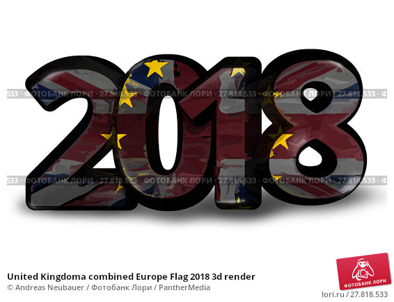 Купить «United Kingdoma combined Europe Flag 2018 3d render», фото № 27818533, снято 22 февраля 2018 г. (c) PantherMedia / Фотобанк Лори
