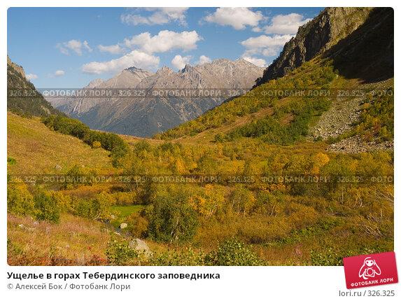 Ущелье в горах Тебердинского заповедника, фото № 326325, снято 29 сентября 2007 г. (c) Алексей Бок / Фотобанк Лори