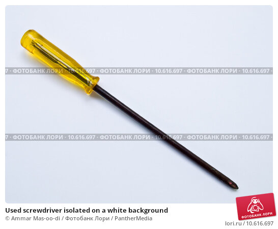 Used screwdriver isolated on a white background . Стоковое фото, фотограф Ammar Mas-oo-di / PantherMedia / Фотобанк Лори