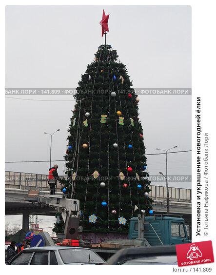 Установка и украшение новогодней ёлки, фото № 141809, снято 5 декабря 2007 г. (c) Татьяна Нафикова / Фотобанк Лори