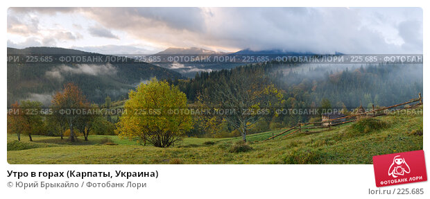 Купить «Утро в горах (Карпаты, Украина)», фото № 225685, снято 22 апреля 2018 г. (c) Юрий Брыкайло / Фотобанк Лори