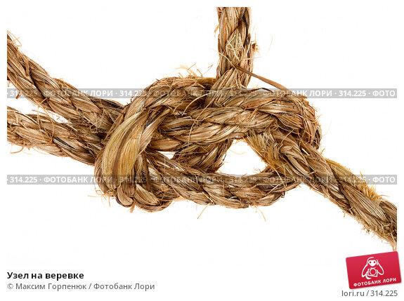 Узел на веревке, фото № 314225, снято 9 сентября 2007 г. (c) Максим Горпенюк / Фотобанк Лори