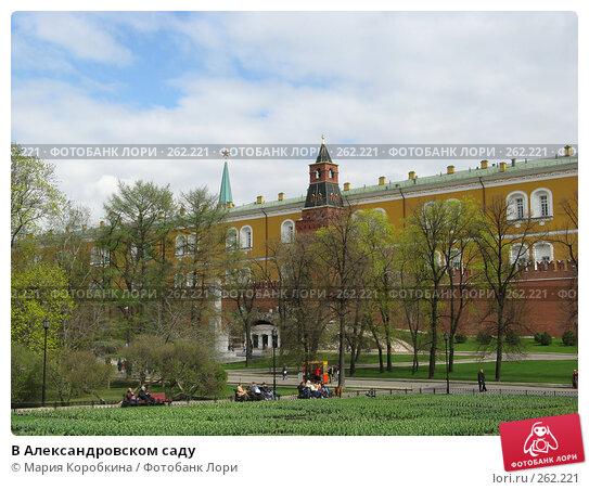 В Александровском саду, фото № 262221, снято 19 апреля 2008 г. (c) Мария Коробкина / Фотобанк Лори