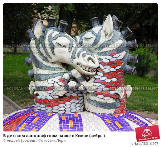 В детском ландшафтном парке в Киеве (зебры), фото № 3316997, снято 15 августа 2011 г. (c) Андрей Ерофеев / Фотобанк Лори