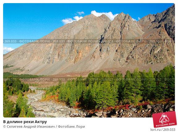 В долине реки Актру, фото № 269033, снято 27 августа 2007 г. (c) Селигеев Андрей Иванович / Фотобанк Лори