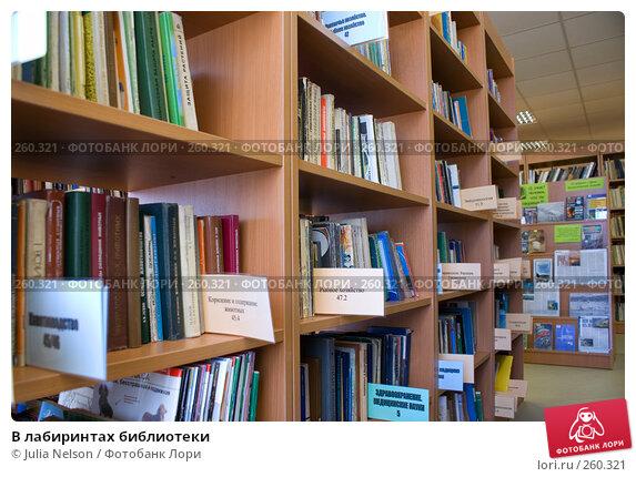 В лабиринтах библиотеки, фото № 260321, снято 23 апреля 2008 г. (c) Julia Nelson / Фотобанк Лори