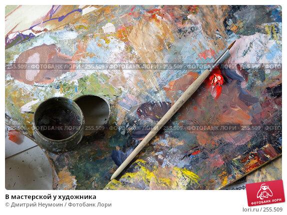 В мастерской у художника, эксклюзивное фото № 255509, снято 17 апреля 2008 г. (c) Дмитрий Неумоин / Фотобанк Лори