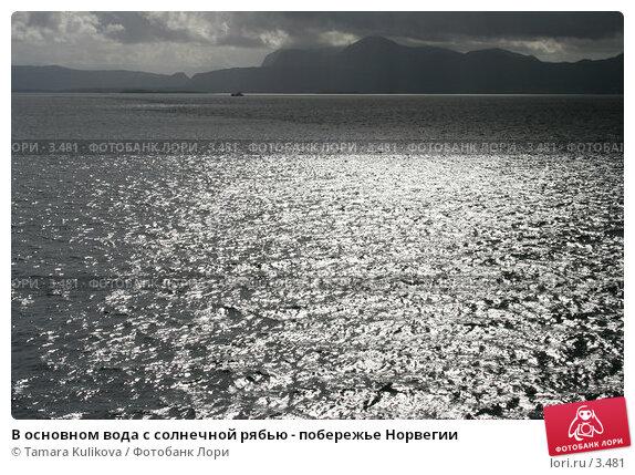 В основном вода с солнечной рябью - побережье Норвегии, фото № 3481, снято 25 августа 2005 г. (c) Tamara Kulikova / Фотобанк Лори