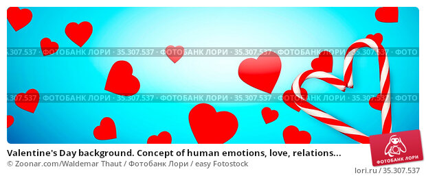 Valentine's Day background. Concept of human emotions, love, relations... Стоковое фото, фотограф Zoonar.com/Waldemar Thaut / easy Fotostock / Фотобанк Лори