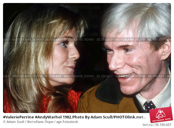 #ValeriePerrine #AndyWarhol 1982.Photo By Adam Scull/PHOTOlink.net.. Редакционное фото, фотограф Adam Scull / age Fotostock / Фотобанк Лори