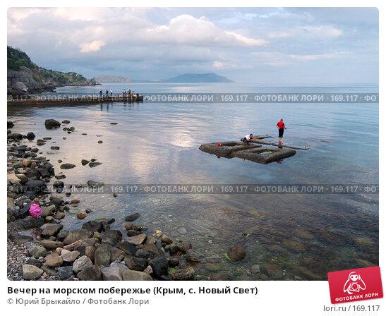 Вечер на морском побережье (Крым, с. Новый Свет), фото № 169117, снято 10 июня 2006 г. (c) Юрий Брыкайло / Фотобанк Лори