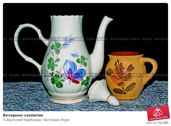 Вечернее чаепитие, фото № 92445, снято 18 августа 2007 г. (c) Анатолий Теребенин / Фотобанк Лори