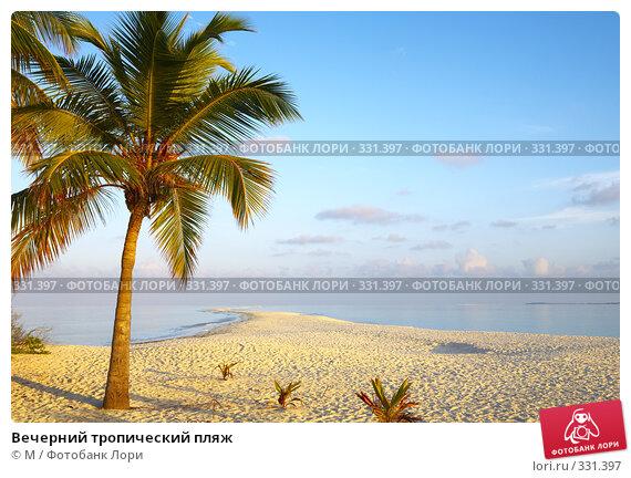 Купить «Вечерний тропический пляж», фото № 331397, снято 20 апреля 2018 г. (c) М / Фотобанк Лори
