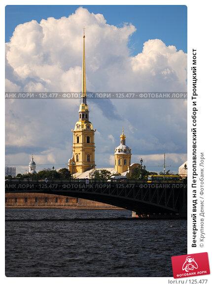 Вечерний вид на Петропавловский собор и Троицкий мост, фото № 125477, снято 31 июля 2007 г. (c) Крупнов Денис / Фотобанк Лори