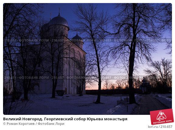 Купить «Великий Новгород. Георгиевский собор Юрьева монастыря», фото № 210657, снято 3 января 2008 г. (c) Роман Коротаев / Фотобанк Лори