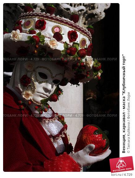 """Купить «Венеция, карнавал - маска """"Клубничный торт""""», фото № 4729, снято 28 февраля 2006 г. (c) Tamara Kulikova / Фотобанк Лори"""