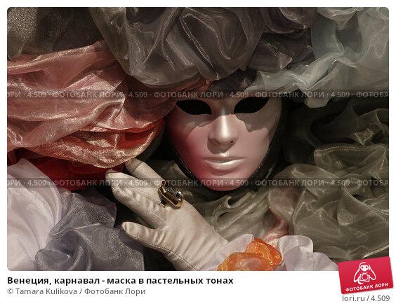 Венеция, карнавал - маска в пастельных тонах, фото № 4509, снято 28 февраля 2006 г. (c) Tamara Kulikova / Фотобанк Лори