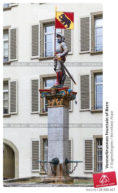Купить «Vennerbrunnen fountain of Bern», фото № 28926421, снято 7 мая 2017 г. (c) EugeneSergeev / Фотобанк Лори