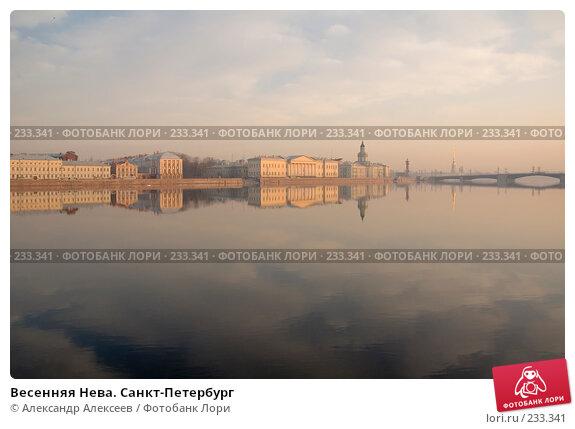 Весенняя Нева. Санкт-Петербург, эксклюзивное фото № 233341, снято 23 марта 2007 г. (c) Александр Алексеев / Фотобанк Лори