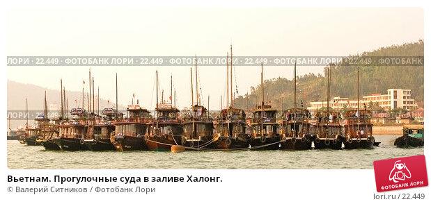 Вьетнам. Прогулочные суда в заливе Халонг., фото № 22449, снято 7 февраля 2007 г. (c) Валерий Ситников / Фотобанк Лори