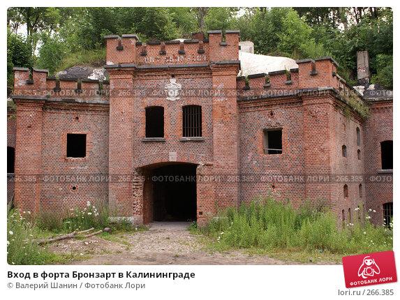 Вход в форта Бронзарт в Калининграде, фото № 266385, снято 22 июля 2007 г. (c) Валерий Шанин / Фотобанк Лори