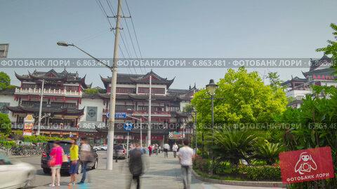 Купить «Вход в сад в Шанхае, таймлапс», видеоролик № 6863481, снято 3 июля 2014 г. (c) Кирилл Трифонов / Фотобанк Лори