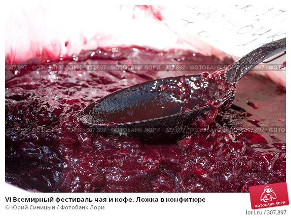 VI Всемирный фестиваль чая и кофе. Ложка в конфитюре, фото № 307897, снято 31 мая 2008 г. (c) Юрий Синицын / Фотобанк Лори