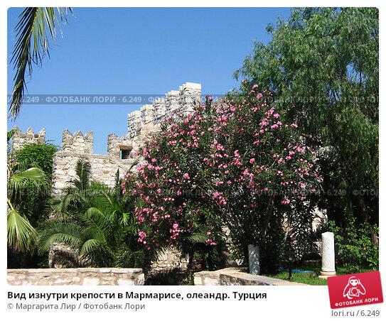 Вид изнутри крепости в Мармарисе, олеандр. Турция, фото № 6249, снято 12 июля 2006 г. (c) Маргарита Лир / Фотобанк Лори