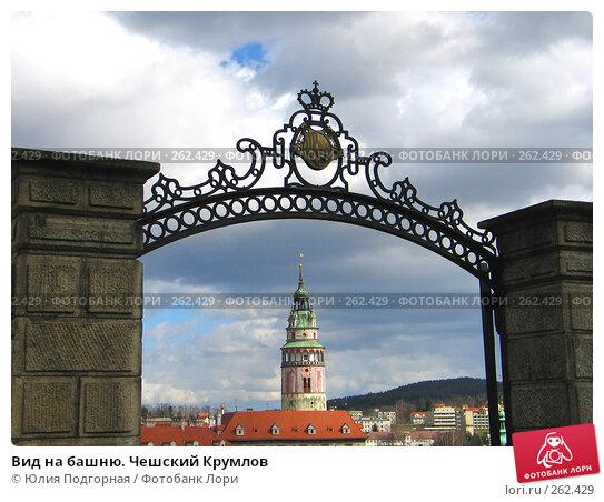 Вид на башню. Чешский Крумлов, фото № 262429, снято 18 марта 2008 г. (c) Юлия Селезнева / Фотобанк Лори