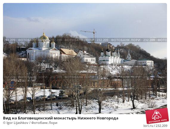 Вид на Благовещенский монастырь Нижнего Новгорода, фото № 232209, снято 21 марта 2008 г. (c) Igor Lijashkov / Фотобанк Лори