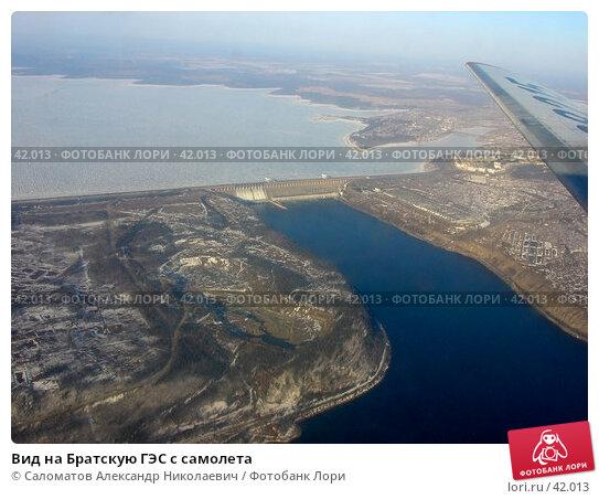 Вид на Братскую ГЭС с самолета, фото № 42013, снято 15 апреля 2004 г. (c) Саломатов Александр Николаевич / Фотобанк Лори