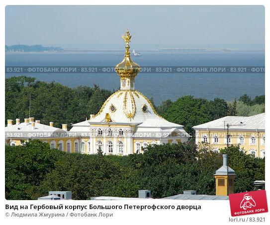 Вид на Гербовый корпус Большого Петергофского дворца, фото № 83921, снято 5 августа 2007 г. (c) Людмила Жмурина / Фотобанк Лори