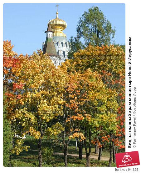Вид на главный храм монастыря Новый Иерусалим, фото № 94125, снято 19 сентября 2007 г. (c) Parmenov Pavel / Фотобанк Лори