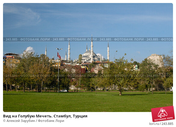 Вид на Голубую Мечеть. Стамбул, Турция, фото № 243885, снято 4 ноября 2007 г. (c) Алексей Зарубин / Фотобанк Лори