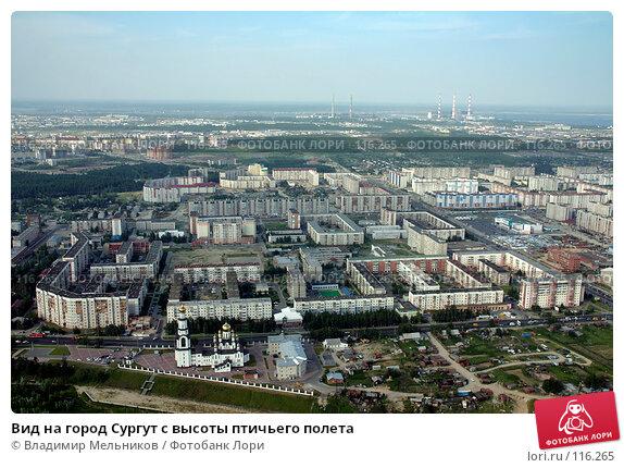 Вид на город Сургут с высоты птичьего полета, фото № 116265, снято 21 июля 2006 г. (c) Владимир Мельников / Фотобанк Лори