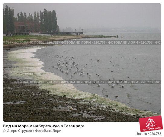 Вид на море и набережную в Таганроге, фото № 220733, снято 27 сентября 2007 г. (c) Игорь Струков / Фотобанк Лори